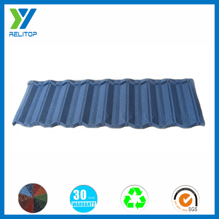 Stone coated color roof price / stone coated step tile roofing sheet