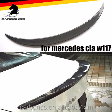 CARBON FIBER TRUNK SPOILER LIP WING FOR MERCEDES BENZ CLA 250 <strong>W117</strong> 2013+