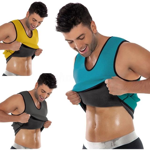 Hot Sweat Body Shaper Slimming Vest Slimming Sauna Suits Slimming Vest For Men Tank Top Fat Burner Shapewear for Weight Loss