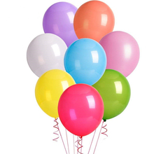 Party Balloons <strong>12</strong> Inches Rainbow Set, Assorted Colored Balloons Bulk Made Strong Latex Helium Air Use Birthday Balloon Arch Sup