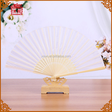 Chinese Art Elegent Item Collapsible Foldable White Hand Fans GYS917-1