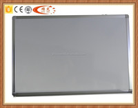 Wall-mounted aluminum frame for magnetic whiteboard with pen tray