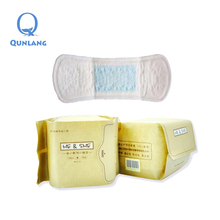 Aseptic packaging women sanitary pads panty liner with 100 cotton