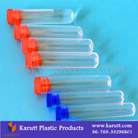 Custom quality food grade clear plastic testing tube with colorful lid