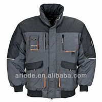 Mens Polycotton Padded Workwear Winter Jacket