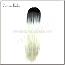 ombre high temperature heat resistant fiber carnival christmas party wig lace front cosplay wig