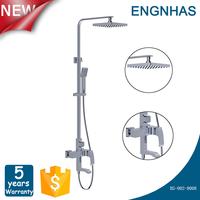 Sliding bar shower faucet parts for bathroom
