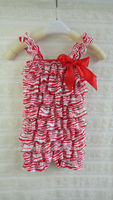 4th of july New Design kids jumpsuit baby chevron romper adorable satin bubble rompers chevron design babywear