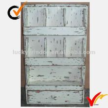 Shabby chic wooden wall shelf with drawer