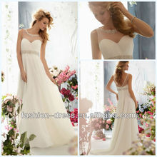 Gorgeous Sweetheart Crystal Beaded Embroidery on Delicate Chiffon Wedding And Evening Dress