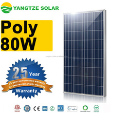 CE/IEC61215/UL/ISO certificated 80w poly solar panel