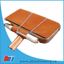 leather mini notebook case