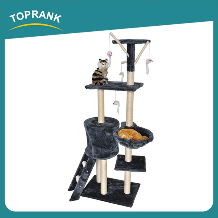 simple and plush cat tree house with high quality
