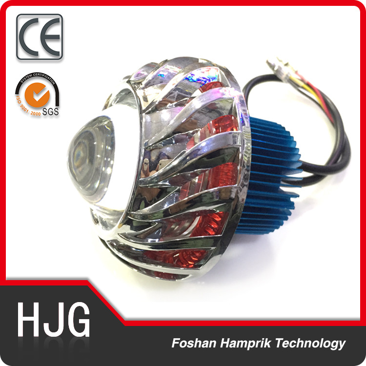 double angel eyes and devil eye 12v led projector lens flashing lights for universal motorcycle