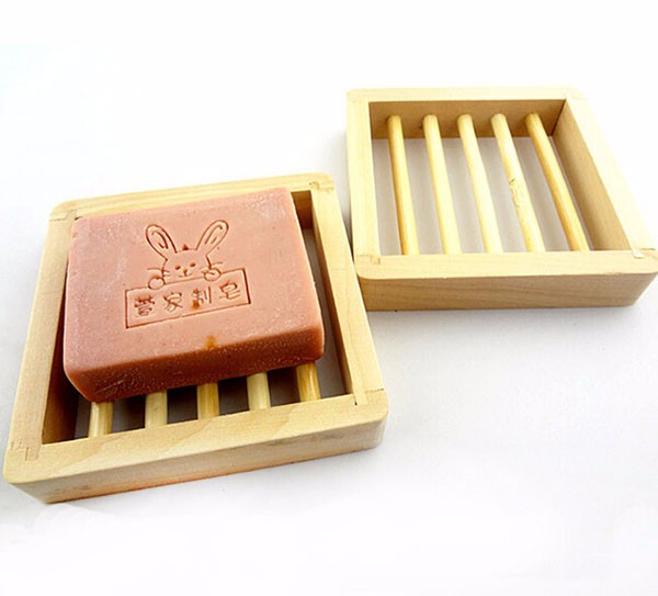 Hanger Soap Dish Holder Bamboo Wooden Soap Saver Holder & Soap Boxes