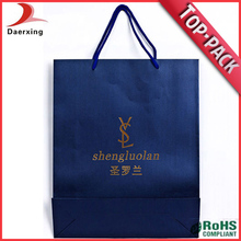 high quality ropa handle solid color shopping paper bag