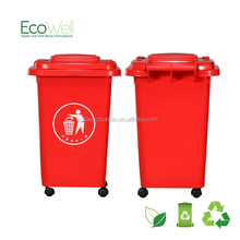 custom size red garbage can in promotional price PP material