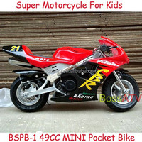Most Popular 50cc MINI Pocket Bike Kids Motorcycles with CE ISO