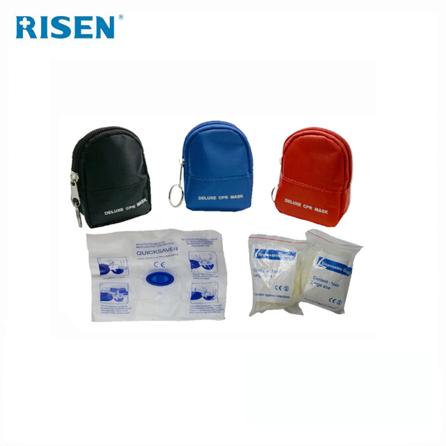 Wholesale CPR First Aid Kits Face Mask One-way Valve Mouth To Mouth Training CPR Mask With Gloves