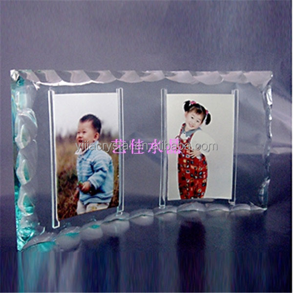 Fashion crystal family photo frame,crystal funny photo fame for families