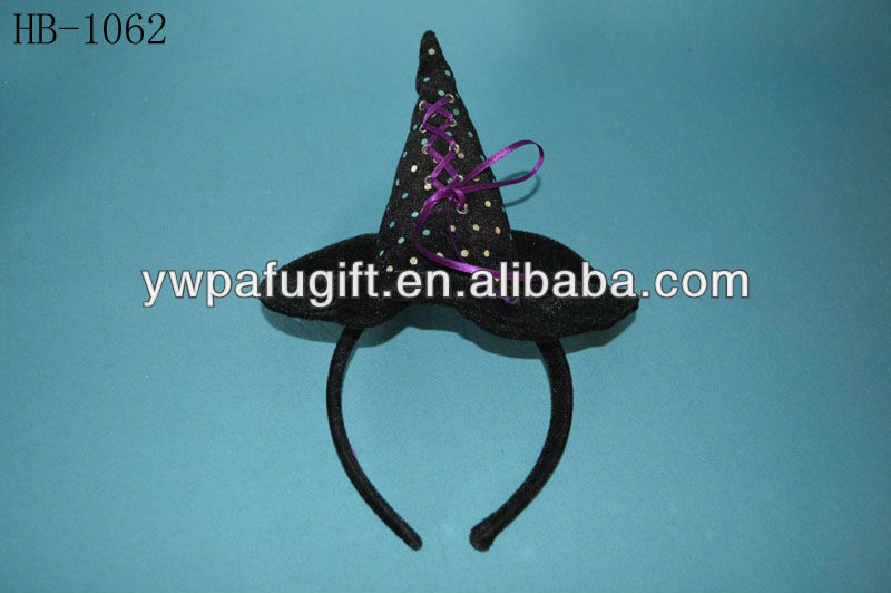 Hot sequin witch hat headband for halloween party