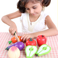 children toys new 2016 style Magnetic fruti and vegetables set wooden toys