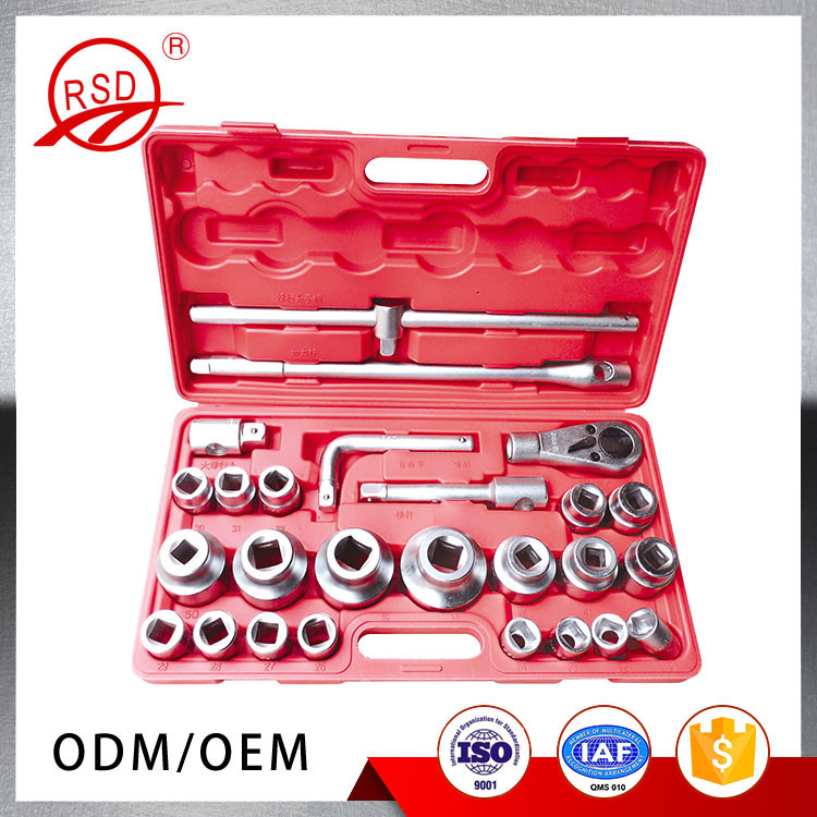 Good quality RSD12926 CR-Vsteel 26pcs grit blasting chrome plating car repair tool accessories parts socket set