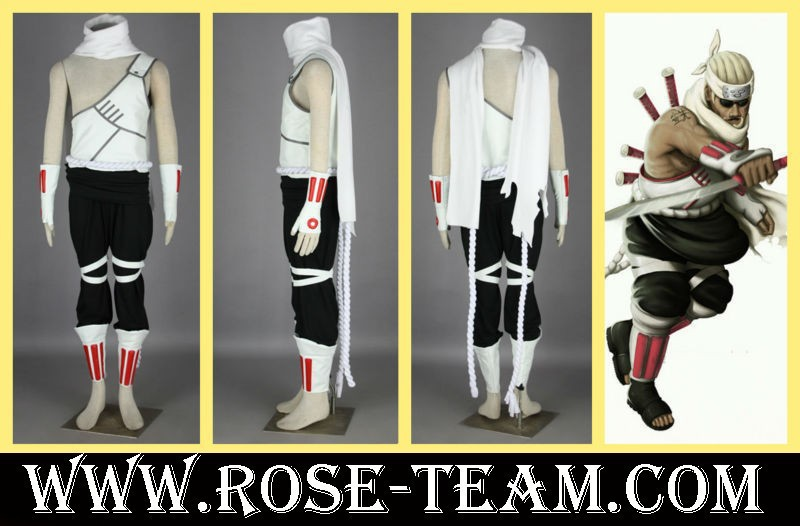 Sunshine-NARUTO Shippuden Killer Bee 1th uniform clothes Manga Amime Cosplay Costume halloween Christmas Party