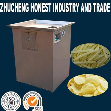 Electric Potato French Fry Cutter Machine, Fries Potato Crisp Chips Maker Machine/potato chips frying machine