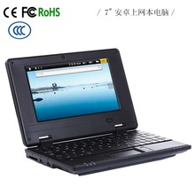 pc789 7 inch Android 4.4 VIA 8880 laptop with 512/1G Ram, 4GB/8GB touch screen netbook, android tablet pc