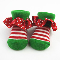 Custom seamless cute slippers cotton baby socks
