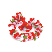 Hot Sales Tropical Flowers Hawaii Party handmade flower necklace