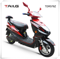 China's strong steel frame 800W 60V two wheels sports electric motorcycle for sale