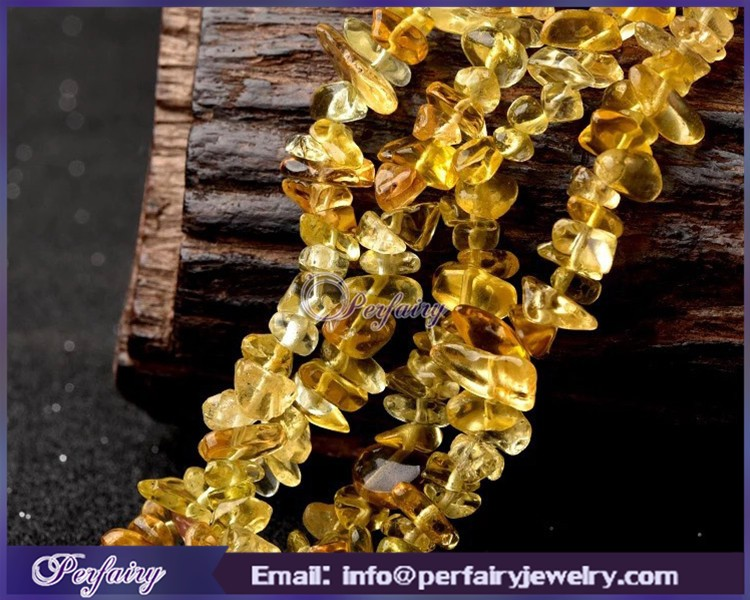 larger stock on sale citrine chips necklace natural untreated gemstone beads for DIY jewelry