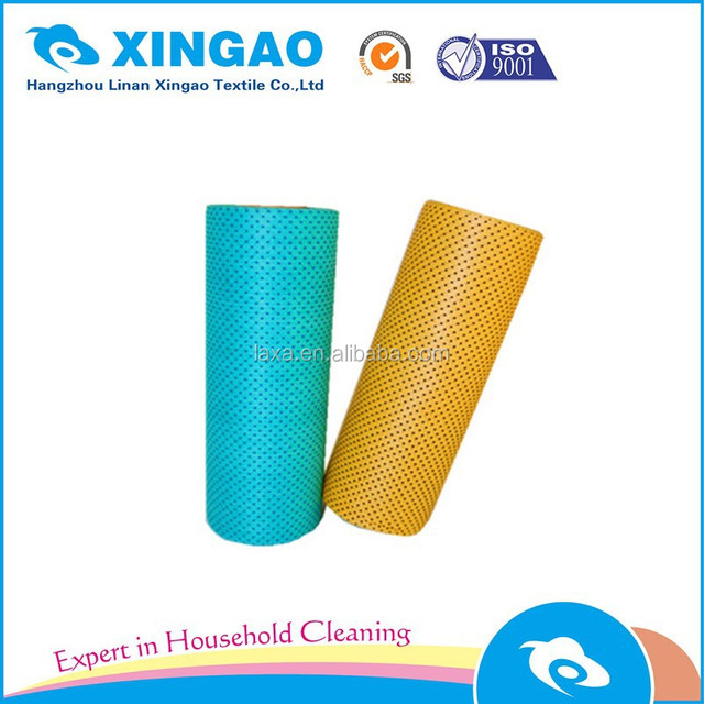 Hangzhou Factory Biodegradable disposable nonwoven kitchen cleaning cloth