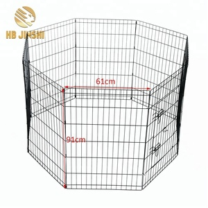 36'' High 8 panels Welded Wire Mesh Dog Crate Fence Panel Pet Play Pen