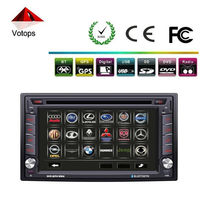Universal double din car gps navigation with bluetooth