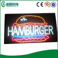 2015 Hot selling high quality outdoor food sign LED open mini sign