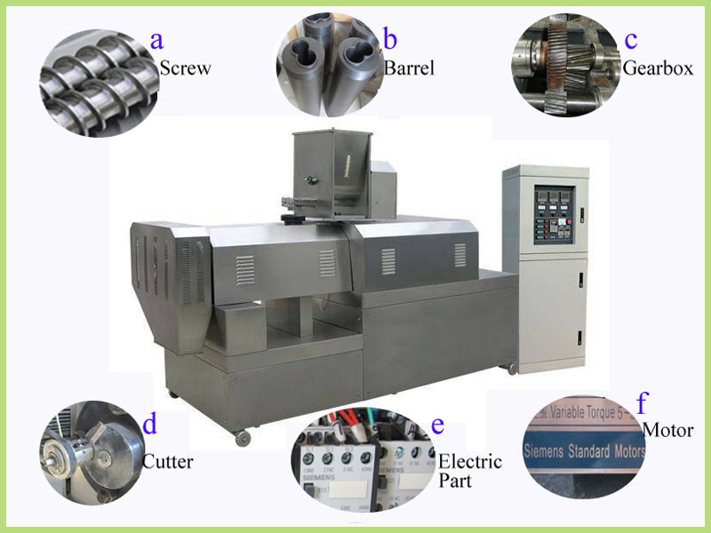 best selling fully automatic puffed snack food extruder processing machine in China