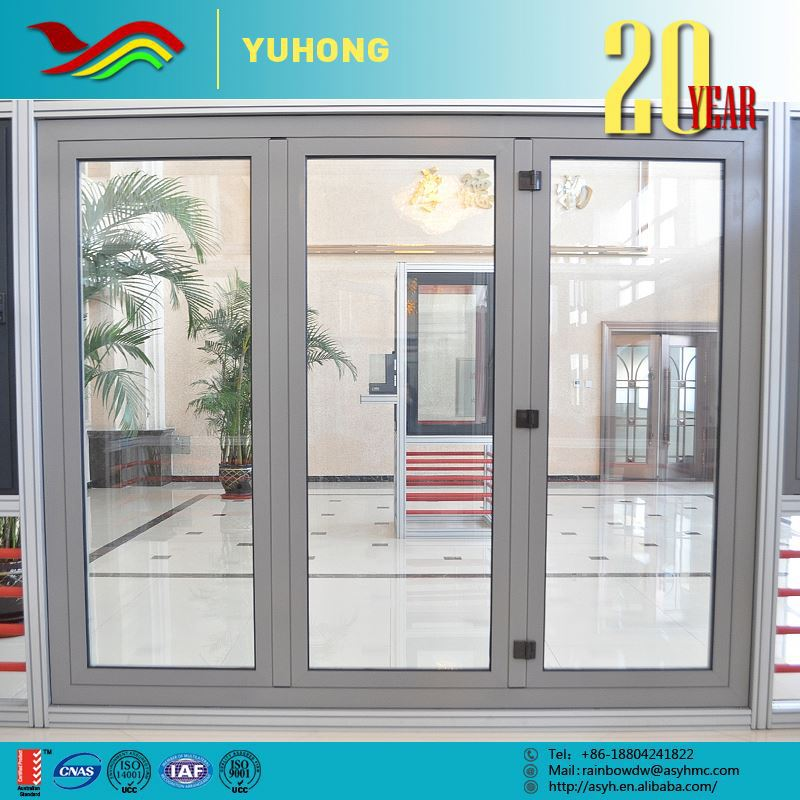 China supplier top quality grill design low-E glass folding garage door
