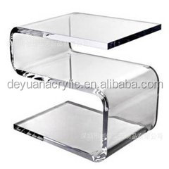 Acrylic square pen holder in office