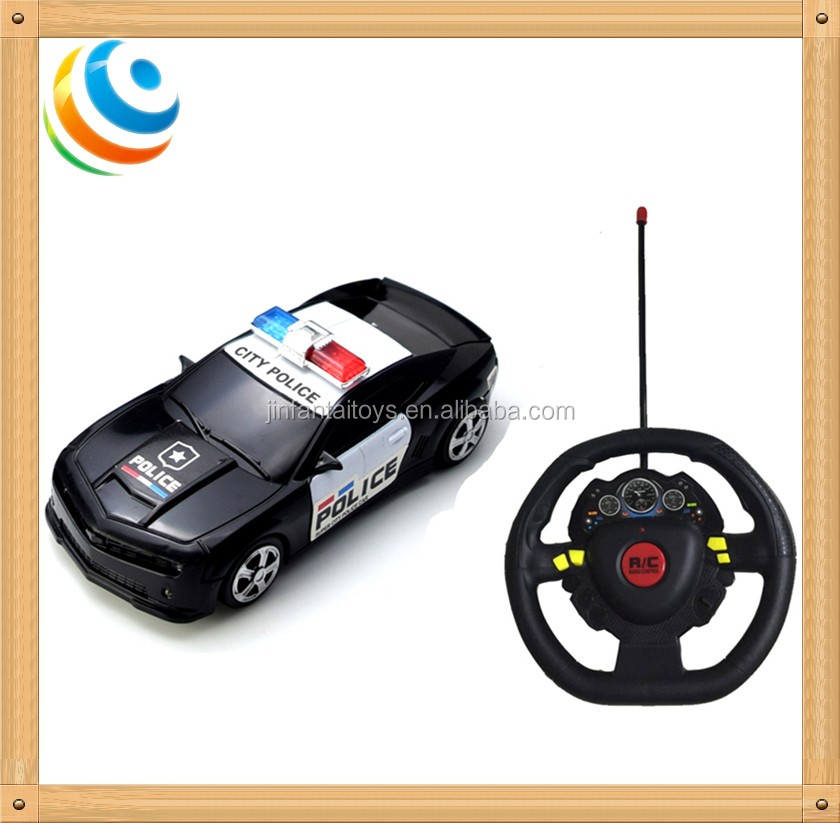 steering wheel remote control car children electric toy RC police model toy for child and kid battery operator