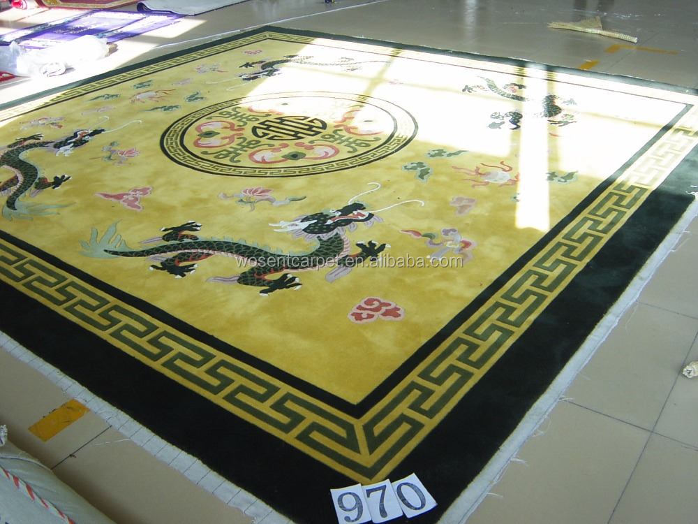 Traditional chinese dragon carpet handmade wool carpet rug for Cheap wall to wall carpet