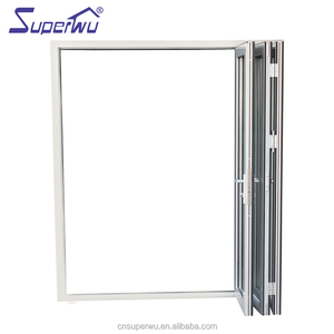 AS2208 standard thermal break extrusion profile waterproof bathroom door aluminum bifolding door
