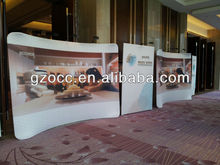 custom factory high density heat transfer printing for tension fabric pop up banner display