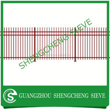 China supplier Low Carben Steel Garden Security Fence / decorative garden fence
