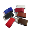 hot selling factory promotional business gift leather custom usb flash drive