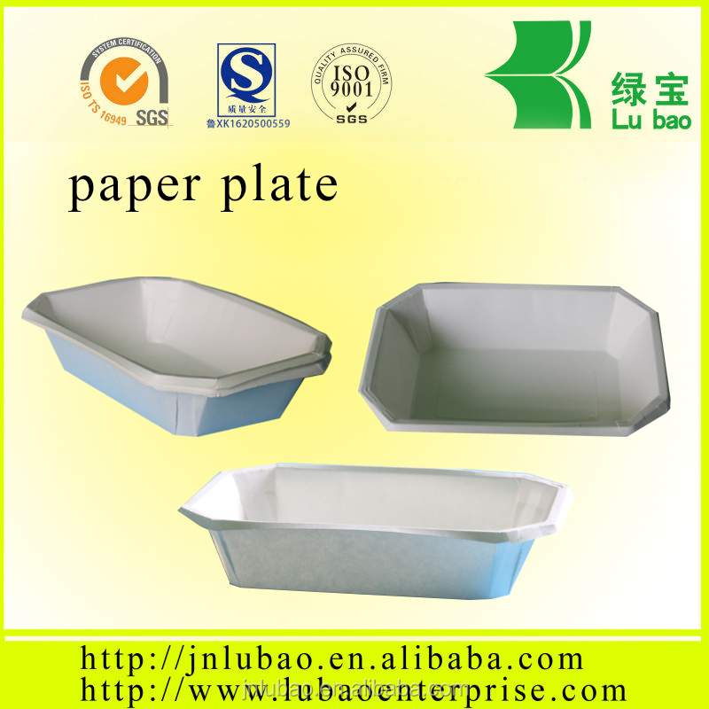 paper plate or tray for food or snack with SGS certification