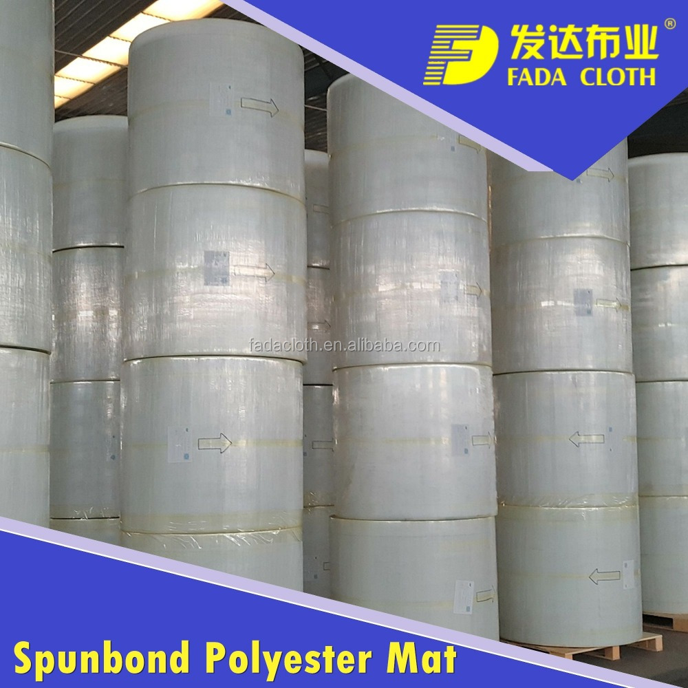 Polyester nonwoven felt for SBS APP Modified bitumen waterproof membrane