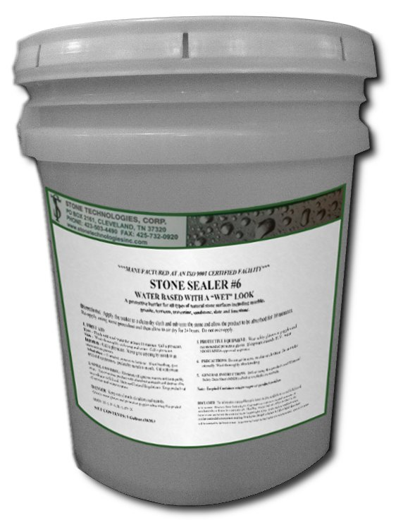 5 Gallons of Stone Sealer #6 - water based granite sealer and enhancer
